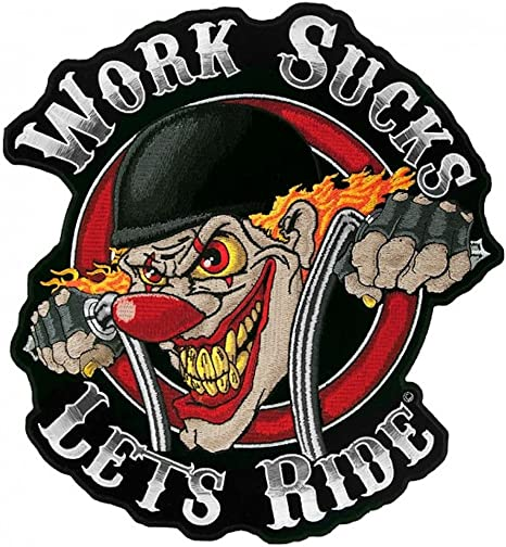HECK RIDER BIKER PATCH 5 INCH mc biker PATCH