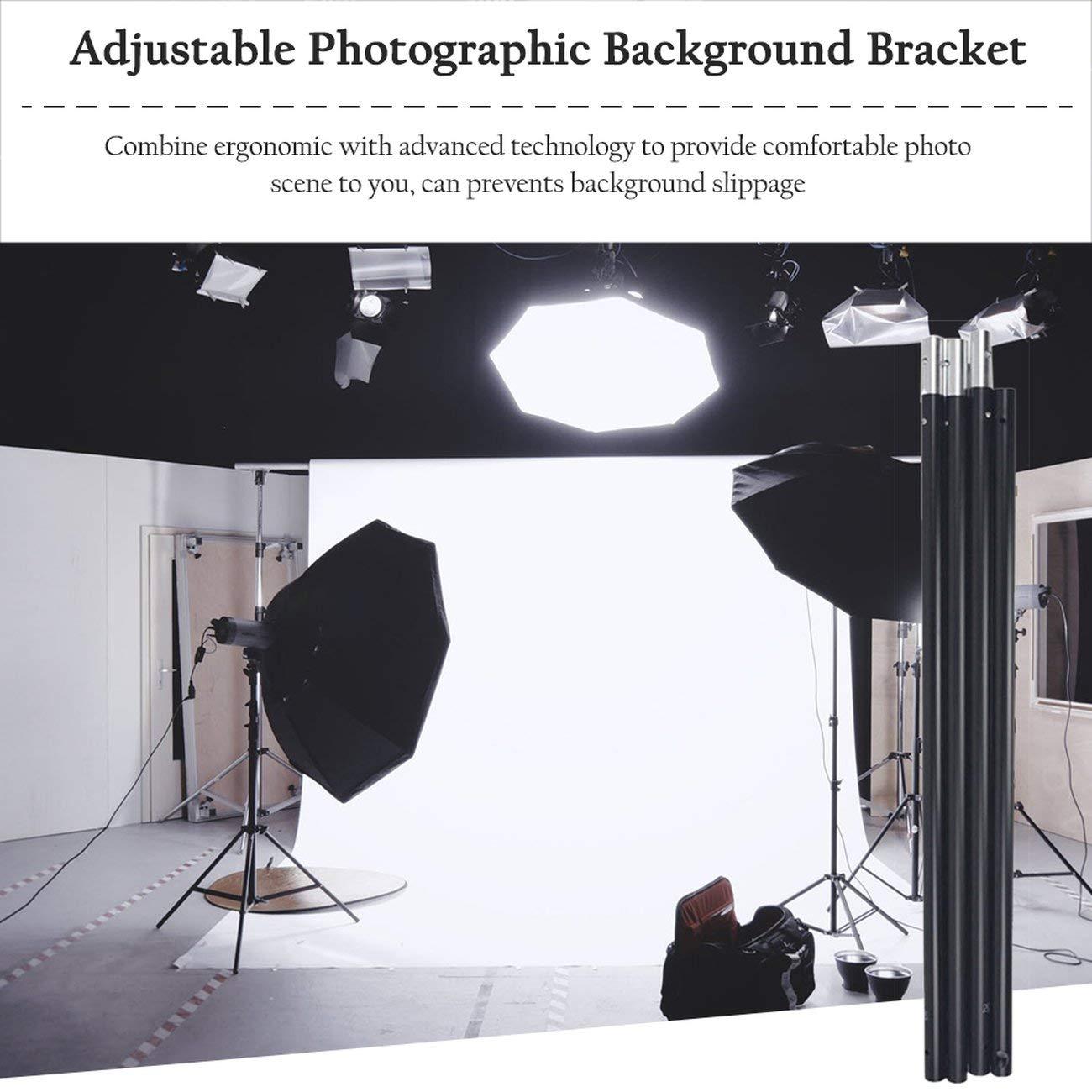 Elviray 3m//10Ft Adjustable Detachable Photo Background Cloth Support Photography Studio Backdrop Stand Portable Crossbar Kit