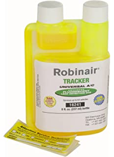 com robinair premium refrigerant recovery recycling robinair 16241 tracker universal a c fluorescent dye 8 oz bottle