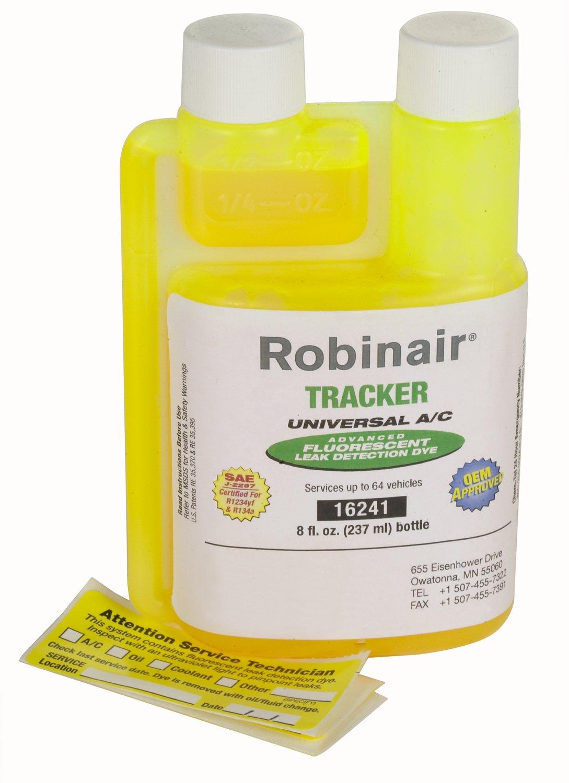 Robinair (16241 Tracker Universal A/C Fluorescent Dye - 8 oz. Bottle, 64 Applications