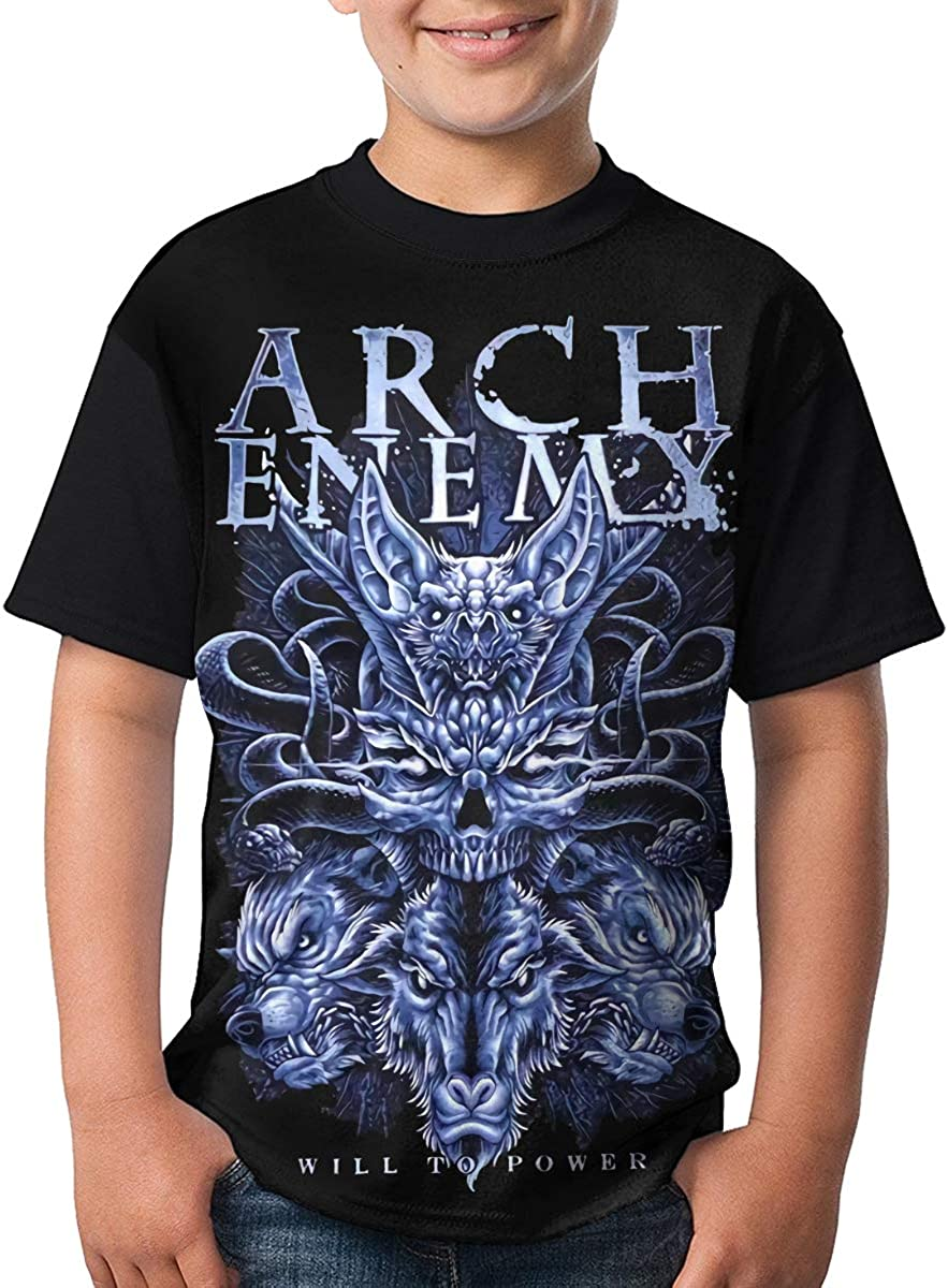 Deborah E Freeman Arch Enemy T Shirts Youth Round Neck Shirt Teenager Boys Personality Tees