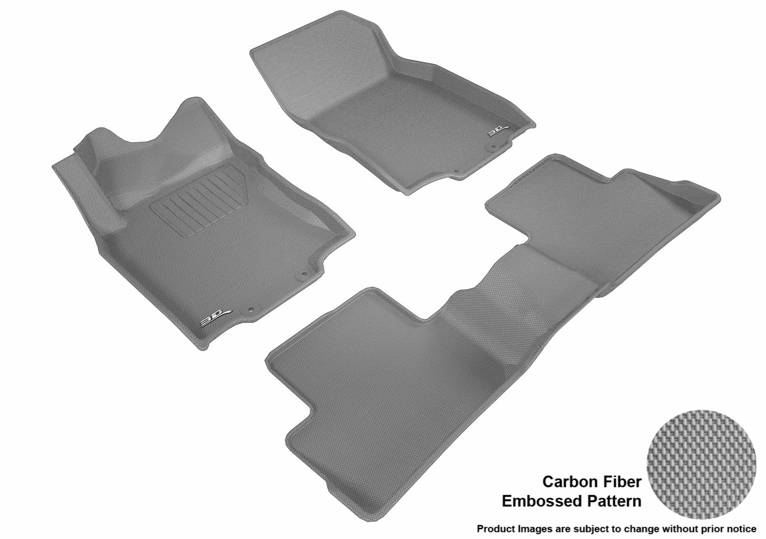 Kagu Rubber L1NS10501501 Gray 3D MAXpider Complete Set Custom Fit All-Weather Floor Mat for Select Nissan Rogue Sport Models
