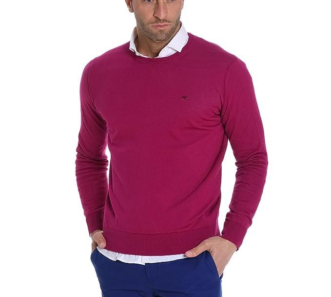 Uomo Amazon Abbigliamento Cotone Maglione it Fucsia 1m5009104650 Etro qp8HU5p