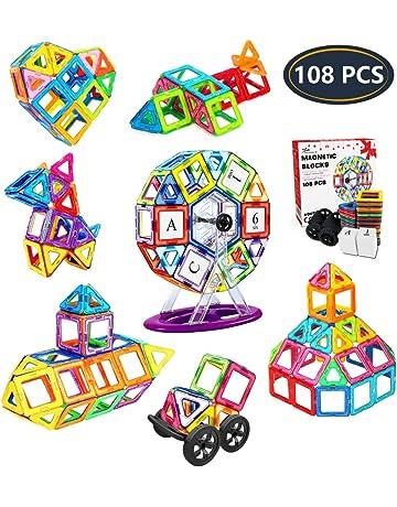 Jasonwell Bloques de Construcción Magnéticos 108 Piezas Bloques Magnéticos 3D Juguetes Construcción Juguetes magnéticos Juego Creativo