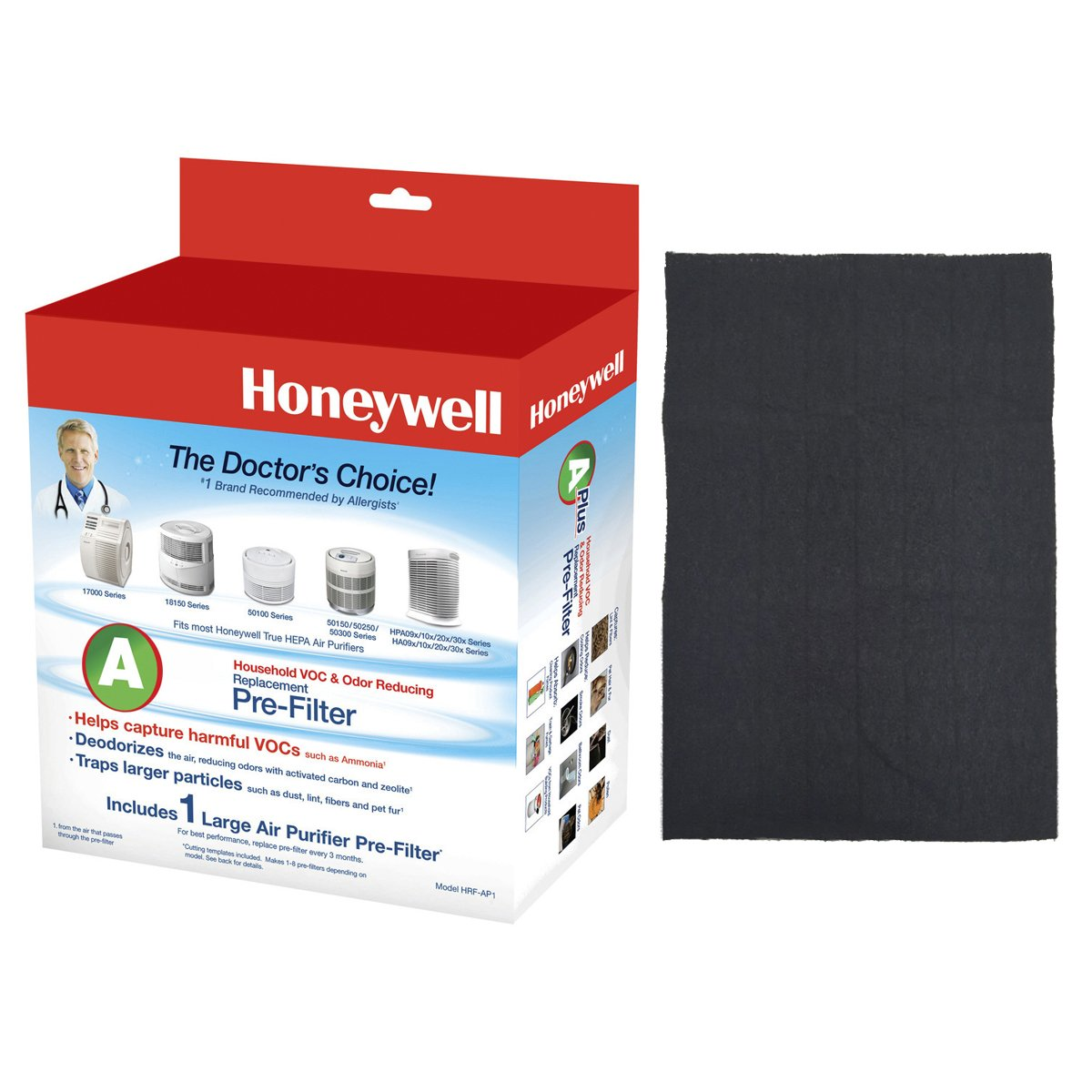Honeywell Filter A HRF-AP1 Universal Carbon Air Purifier Replacement Pre-Filter Kaz