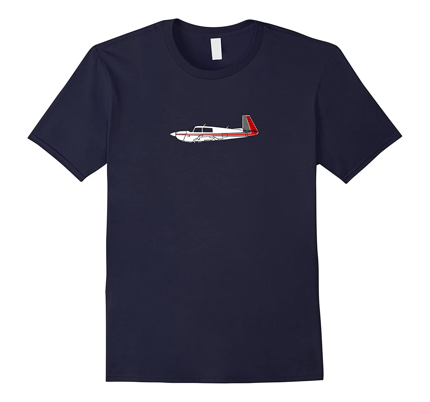 Backwards Tail Airplane Red and Grey T-Shirt-Art