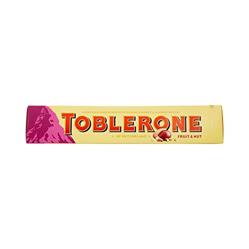 Toblerone Large Bar Fruit and Nut Chocolate, 360g