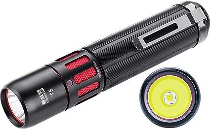 30m Range Pen Flashlight Small Mini Pocket LED Lamp Light Tactical Torch Clip