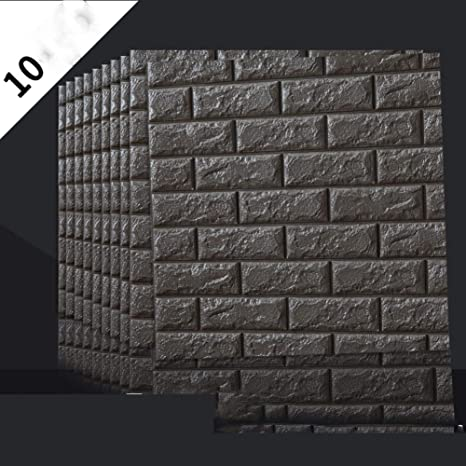 Amazon.com: Papel pintado 3D impermeable, paquete de espuma ...