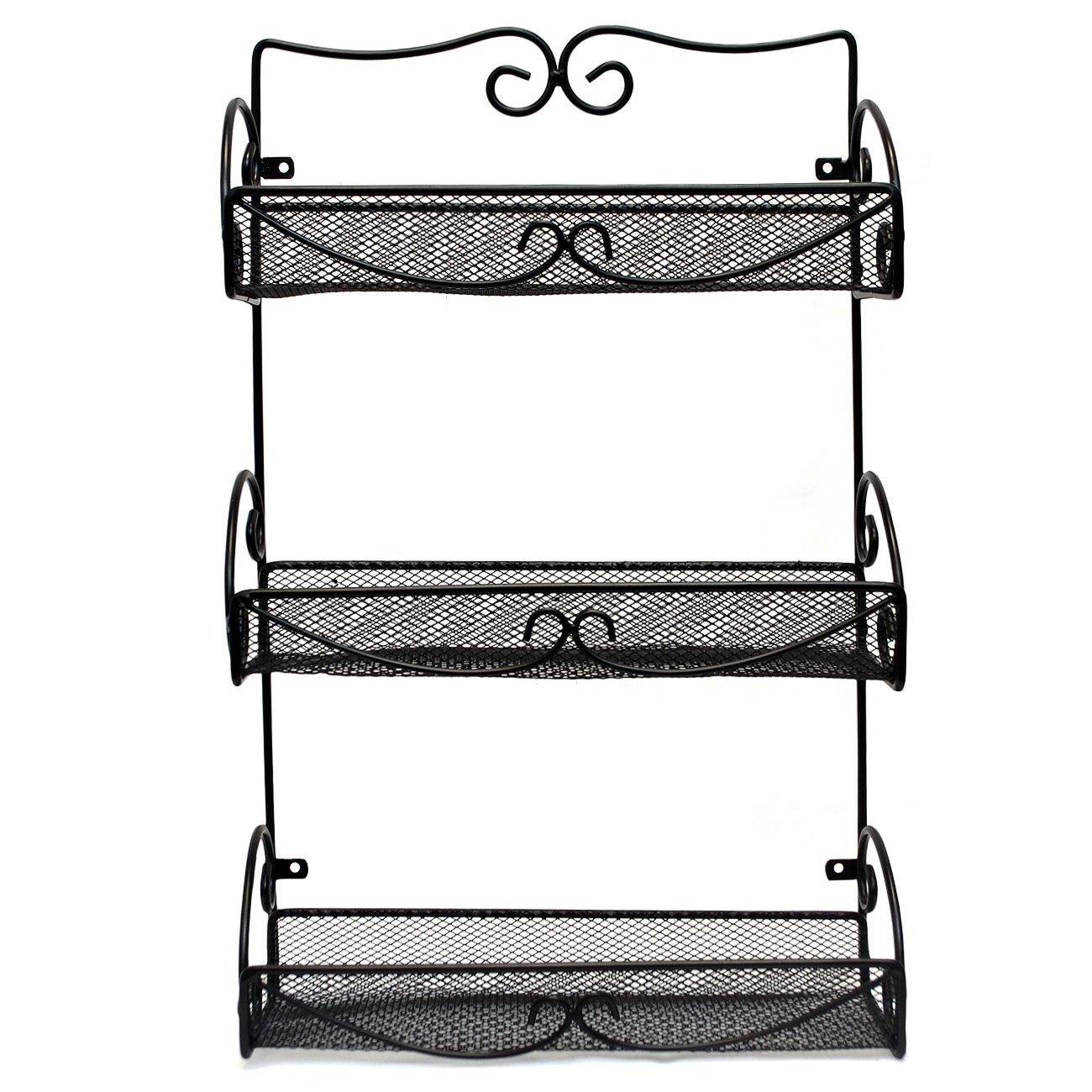 Sorbus® Spice Rack and Multi-Purpose Organizer – 3 Tier Wall Mounted Storage Rack