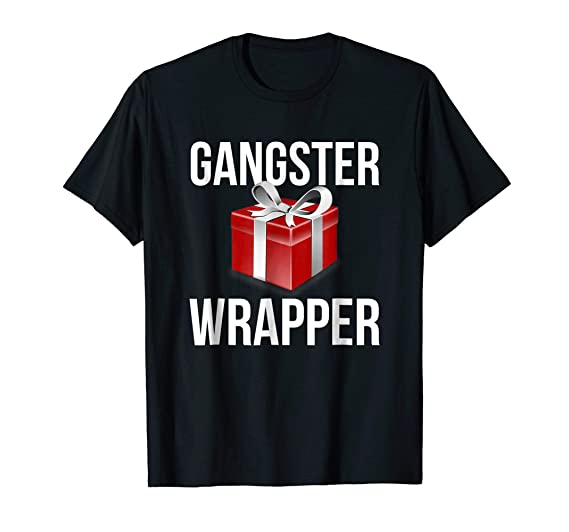1d02579364 Amazon.com: Gangster Wrapper Funny Christmas Holiday T-shirt: Clothing