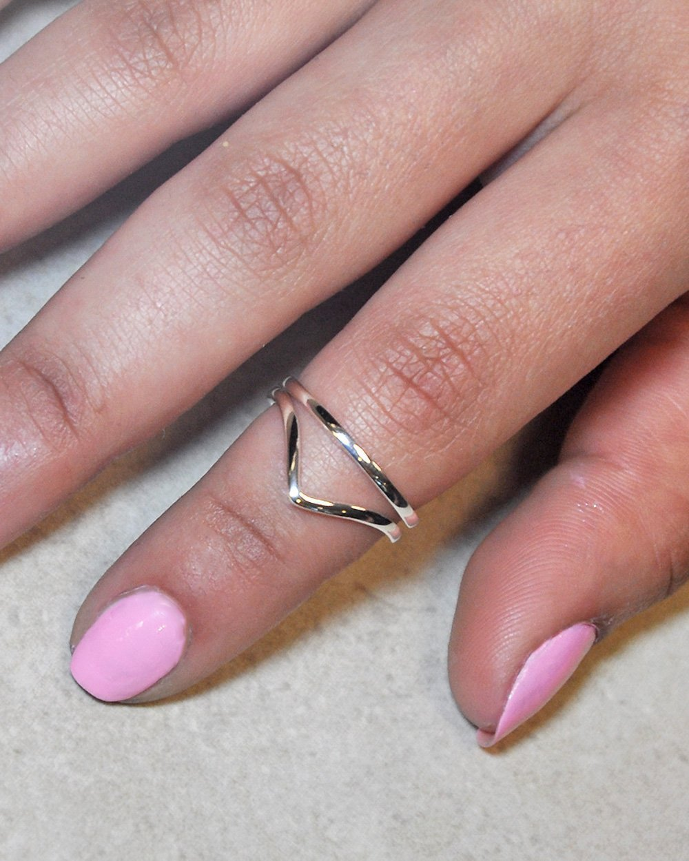Amazon.com: SIVALYA Wishbone Stack Ring, Set of 2 Rings in 925 ...