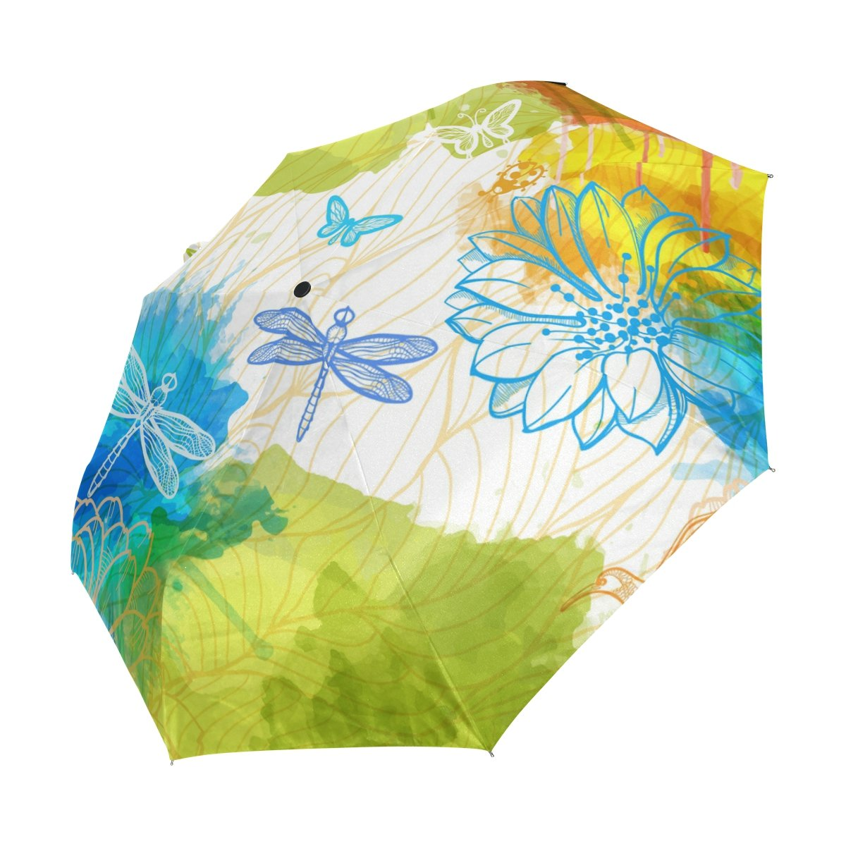 e0a635eb2260 lovely imobaby Windproof Travel Umbrella Dragonfly Auto Open Close ...