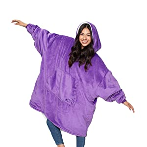 THE COMFY: Original Blanket Sweatshirt, Seen on Shark Tank, Invented by 2 Brothers, Warm, Soft, Cozy, Multiple Colors, 1 Size Fits All, Women, Wife, Girls, Friends