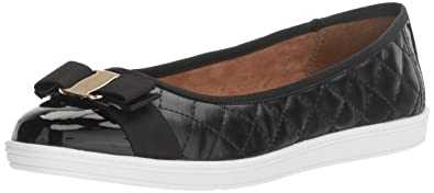 Soft Style by Hush Puppies Women's Faeth Flat, Black, ...
