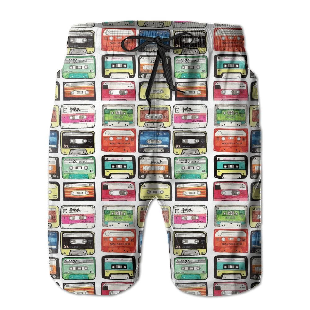 QYKKJF Mens Tape Summer Holiday Quick-Drying Swim Trunks Beach Shorts Board Shorts