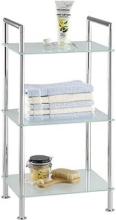 wenko 17777100 scaffale per il bagno style 3 ripiani in vetro satinato acciaio