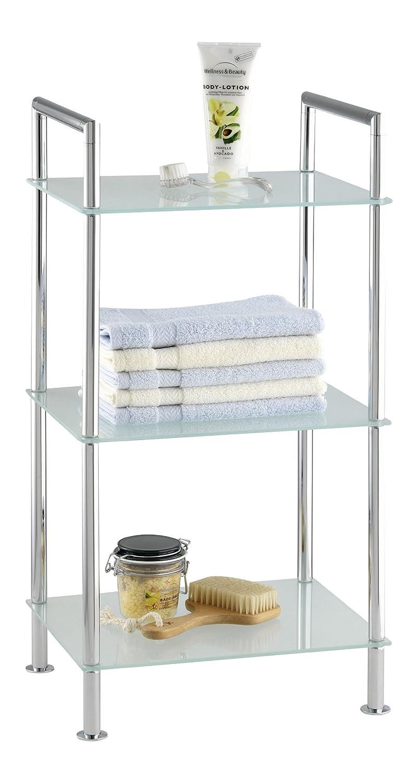 Attraktiv Wenko 17777100 Badregal Style   3 Satinierte Glasablagen, Stahl, 37 X 71 X  28.5 Cm, Chrom: Amazon.de: Küche U0026 Haushalt