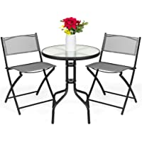Deals on Best Choice Products 3-Pc Patio Bistro Dining Furniture Set