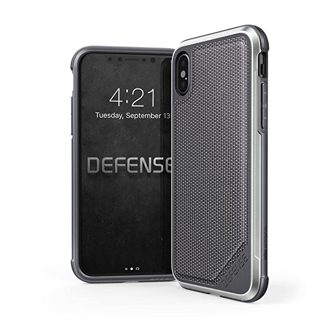best cheap ef4f3 29139 iPhone X, iPhone XS Case, X-Doria Defense Lux Series - Military Grade Drop  Tested, Anodized Aluminum, TPU, and Polycarbonate Protective Case for Apple  ...