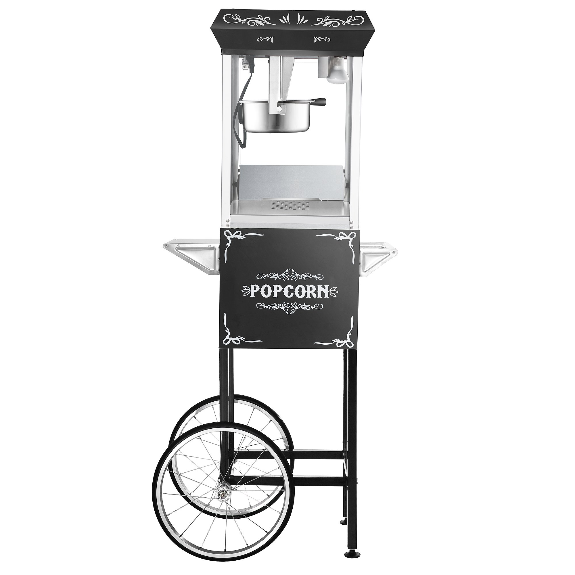 Great Northern Popcorn Black 8 oz. Ounce Foundation Vintage Style Popcorn Machine and Cart by Great Northern Popcorn Company (Image #9)