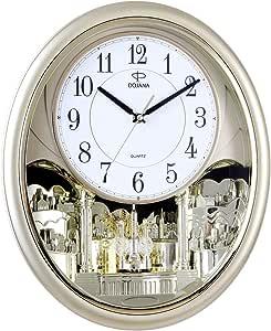 ساعة حائط من دوجانا، رمادي وابيض، DWG502-CHRCOL-WHITE