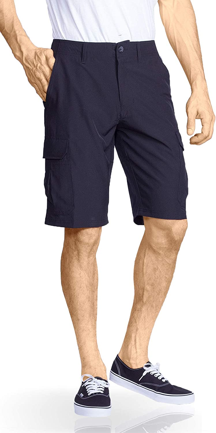Mens Cargo Shorts Hybrid Quick Dry Stretch Tactical Casual Short: Clothing
