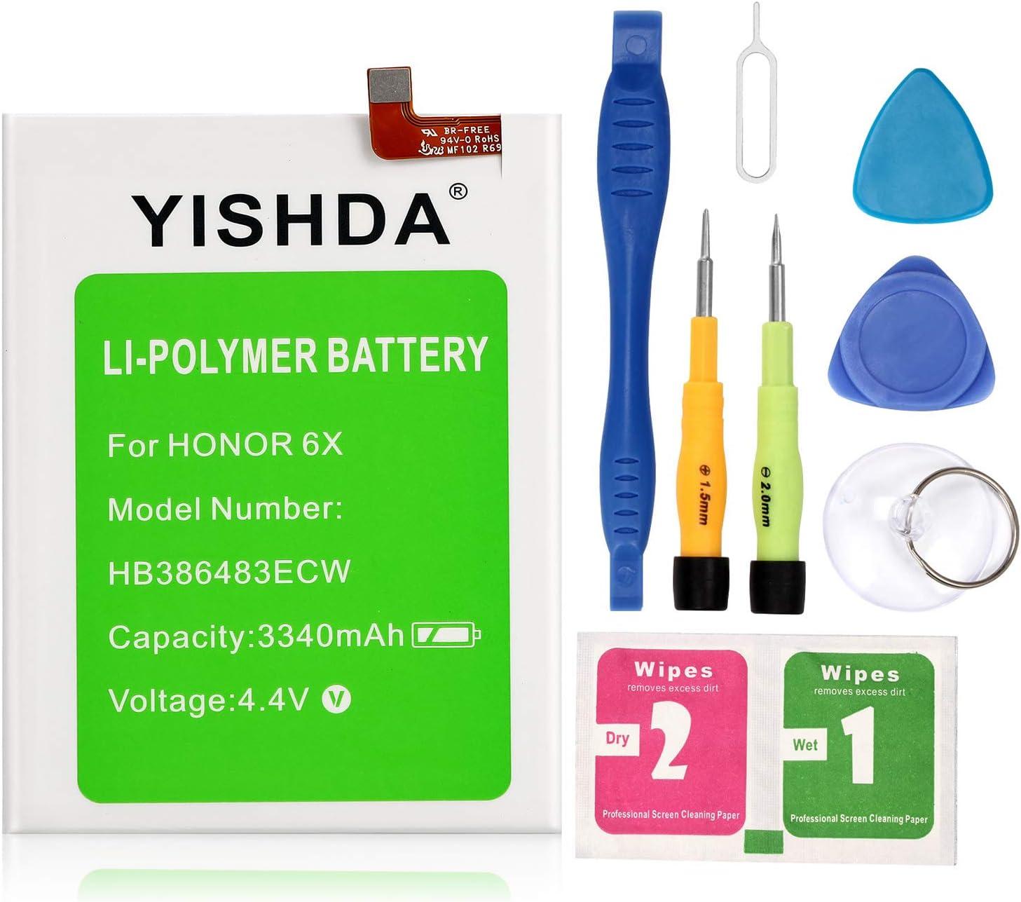 con herramientas Bater/ía de repuesto para Huawei G9 Plus Maimang 5 MLA-AL10 MLA-L00 MLA-L01 MLA-L03 Nova Plus E-yiviil HB386483ECW+