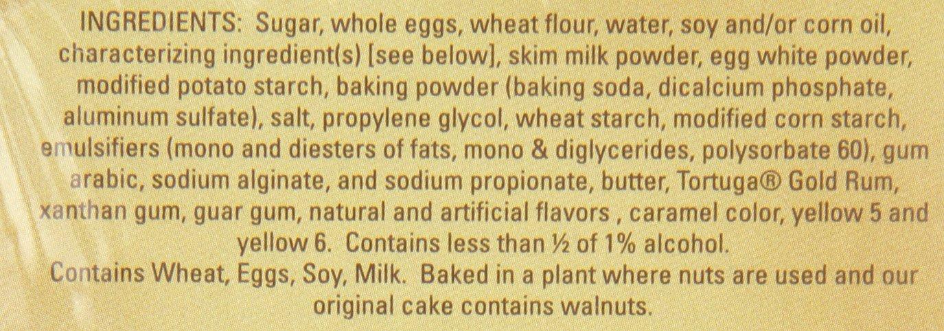 TORTUGA Caribbean Original Rum Cake with Walnuts – 16 oz. - The Perfect Premium Gourmet Gift by TORTUGA (Image #3)