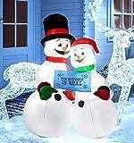 B.N.X 6 Ft LED Light Christmas Snowman Family