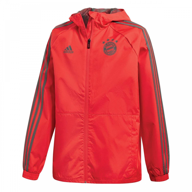 2018-2019 Bayern Munich Adidas Rain Jacket (Red) Kids B07CRMMZYCRed Large Boys 30-32\