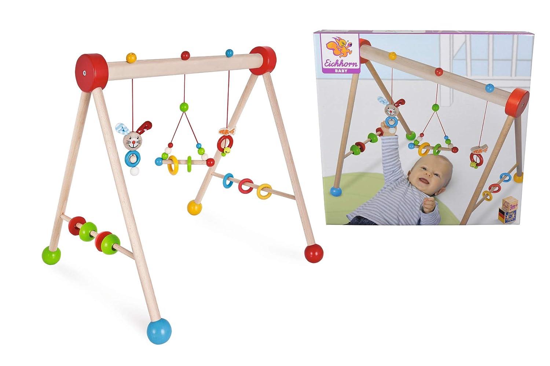 Eichhorn 100017024 - Baby Gym mit Hasenmotiv, 47x51,5x48,5cm, FSC 100% Zertifiziertes Buchenholz, Made in Germany Simba Toys