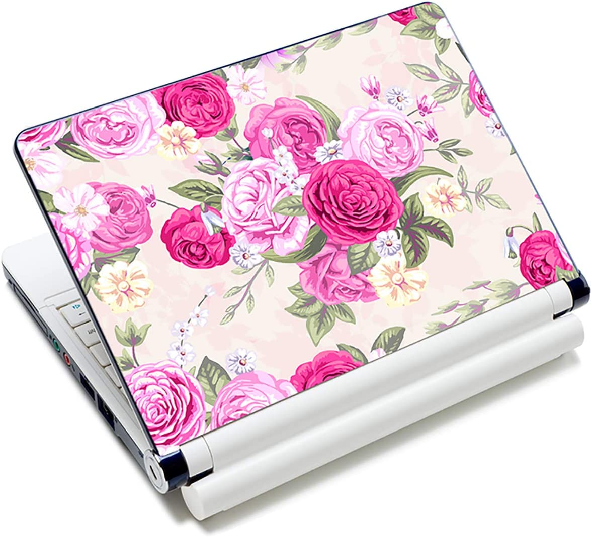 "Laptop Skin Sticker Decal,12"" 13"" 13.3"" 14"" 15"" 15.4"" 15.6"" Laptop Skin Sticker Protector Cover for Toshiba Hp Samsung Dell Apple Acer Leonovo Sony Asus Laptop Notebook (Pink Flowers)"