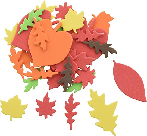 Amazon.com: 60pcs Fall Leaf Stickers Assorted Autumn Leaf Shapes Stickers  Thanksgiving Adhesive Foam Maple Leaves Stickers For Kid's Art Craft  Halloween Thanksgiving Party Decoration (Mini Leaf, 60pcs)