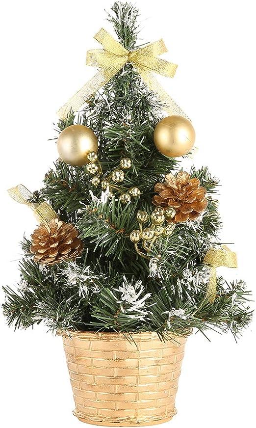 Árbol de Navidad de mesa, Moresave comedor Escritorio de oficina Pequeñas decoraciones de árboles de Navidad: Amazon.es: Jardín