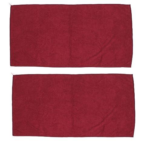 Limpiador de parabrisas de la forma rectangular de lavado de toallas rojas 2 PC