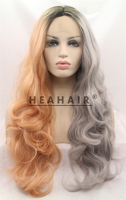 silver brown wig