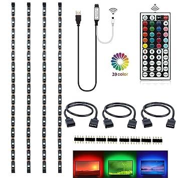 topled light rgb tv pc led strip light kit 4x50cm with 44keys remotetopled light rgb tv pc led strip light kit 4x50cm with 44keys remote controller for hdtv