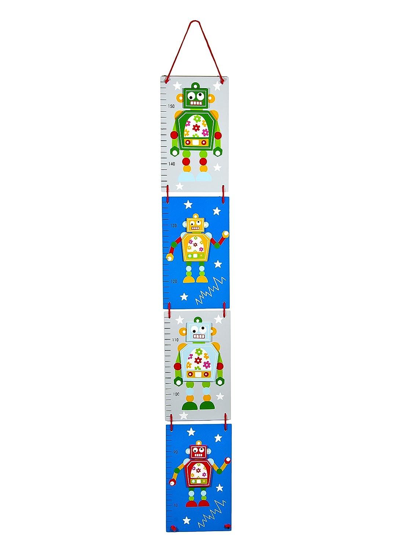 Mousehouse Gifts Messlatte Blau Roboter f/ür Kinder oder Baby Jungen Kinderzimmer