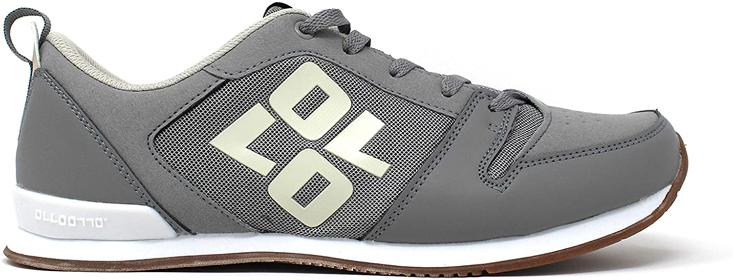 OLLO Zero S - Slate Myst Gum - Grey/White - Parkour and Freerunning Shoe - High Grip Sole Flexible Shoes - Best Shoe for Parkour, Freerunning, Ninja Training, and Obstacle Training
