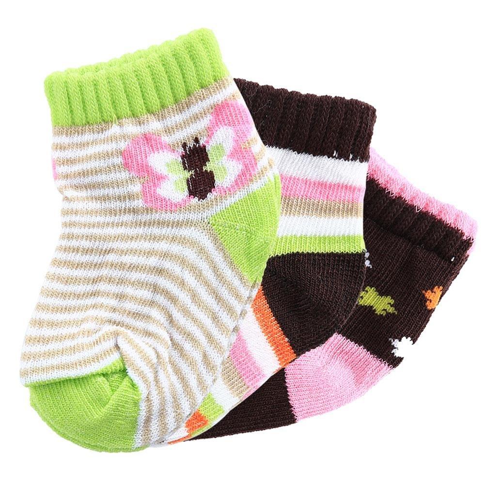 Itaar Baby Socks Unisex Soft Newborn Babys Cotton Cartoon Pattern Room Terry Socks 3 Pairs for Baby 0-3years