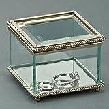 Square Glass Keepsake Box