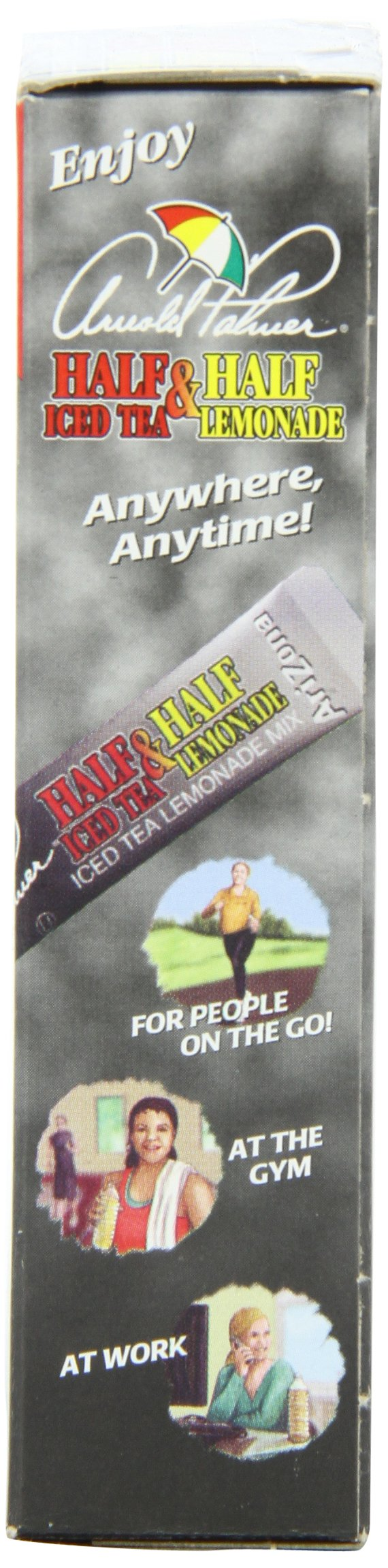AriZona Arnold Palmer Half Lemonade Half Iced Tea Stix, 10 Count Per Box (Pack of 6), Low Calorie Single Serving Drink Powder Packets, Just Add Water for a Deliciously Refreshing Iced Tea Beverage by Arizona (Image #4)