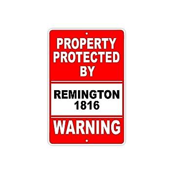 amazon com protected by remington 1816 gun pistol rifle revolver