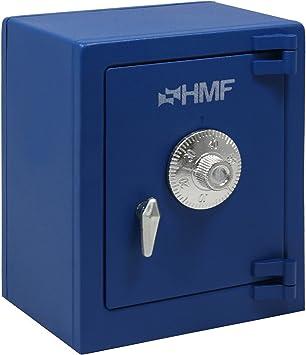 HMF 306-05 Caja fuerte mini con cerradura de combinación 13,5 x 11 x 8 cm, azul: Amazon.es: Bricolaje y herramientas