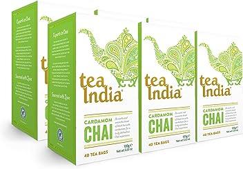 Tea India Cardamom Chai Tea Bags, 40 count (Pack of 6)