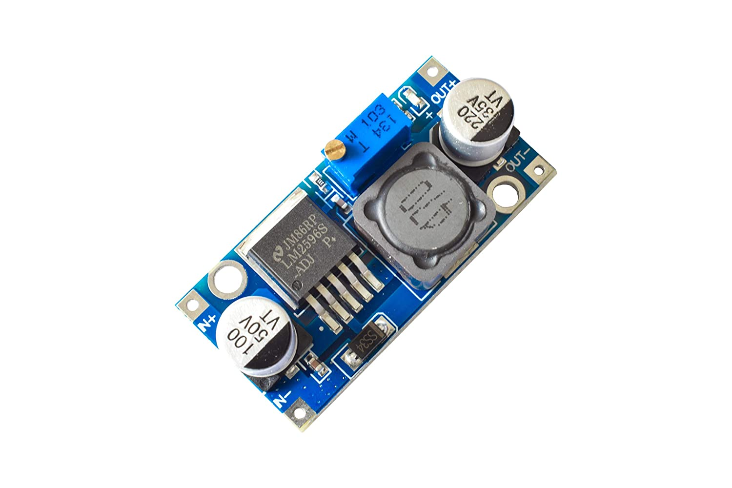 5x LM2596S 3V-40V to 1.5V-35V 3A Step Down Power Supply Converter Module DC