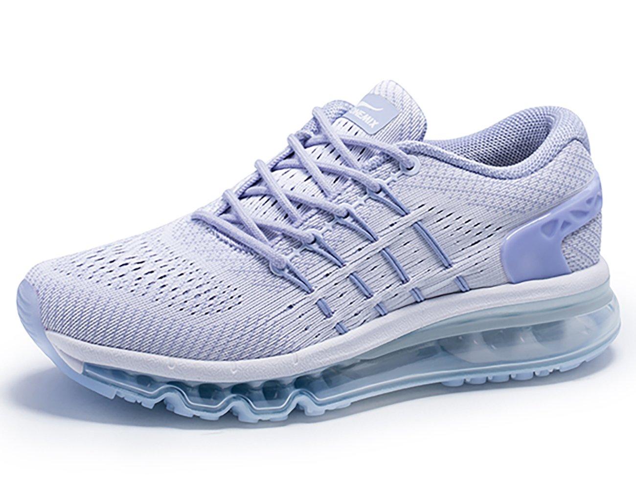 ONEMIX Womens Air Running Shoes,Sloping Tongue Design Sneakers B074TC7G3J Womens 8.5(M)/Mens 7(M)US 40EU White