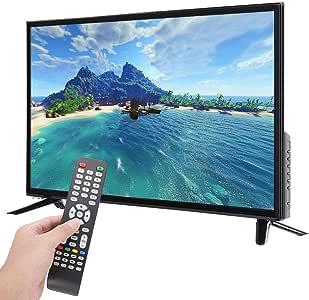 ASHATA 4K HD Smart LED TV HDR, BCL-32A / 3216D TV LCD HD de 32 Pulgadas 1366 * 768, tecnología Sonido Social incorporada, Compatible con Entrada de Antena USB HDMI RF 110-240V