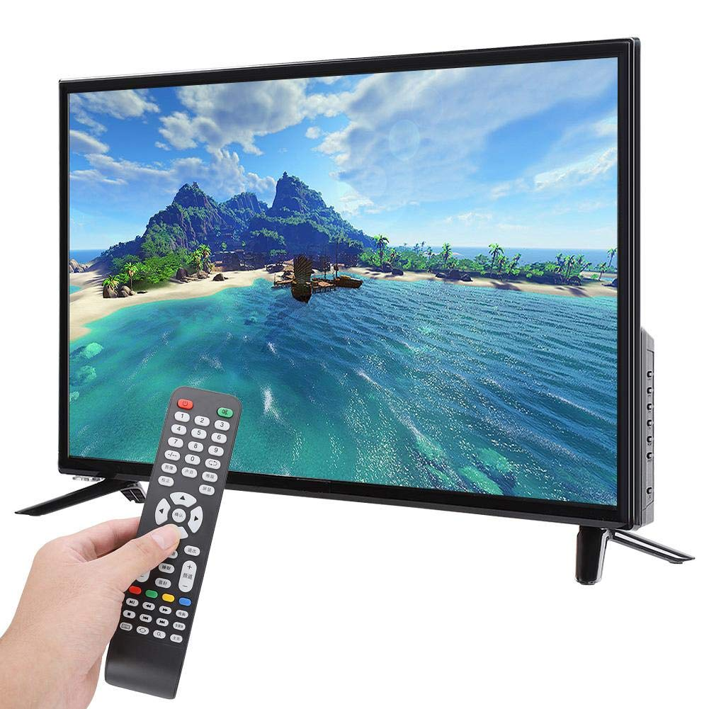 Cosiki WiFi Home TVBCL-32A/3216D 32-inch HD LCD TV 1366768 Supports USB HDMI RF Antenna Input 110-240V Black(Black)